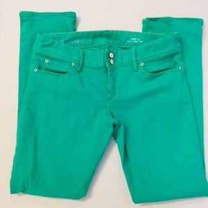 Lilly Pulitzer Worth Straight Jeans Green Sz 12